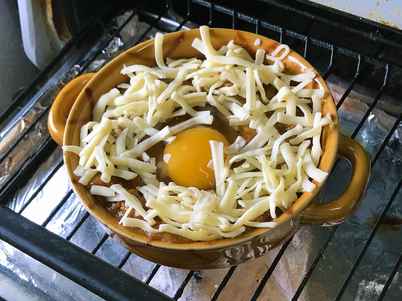 7.オーブンで8分ほど焼く。