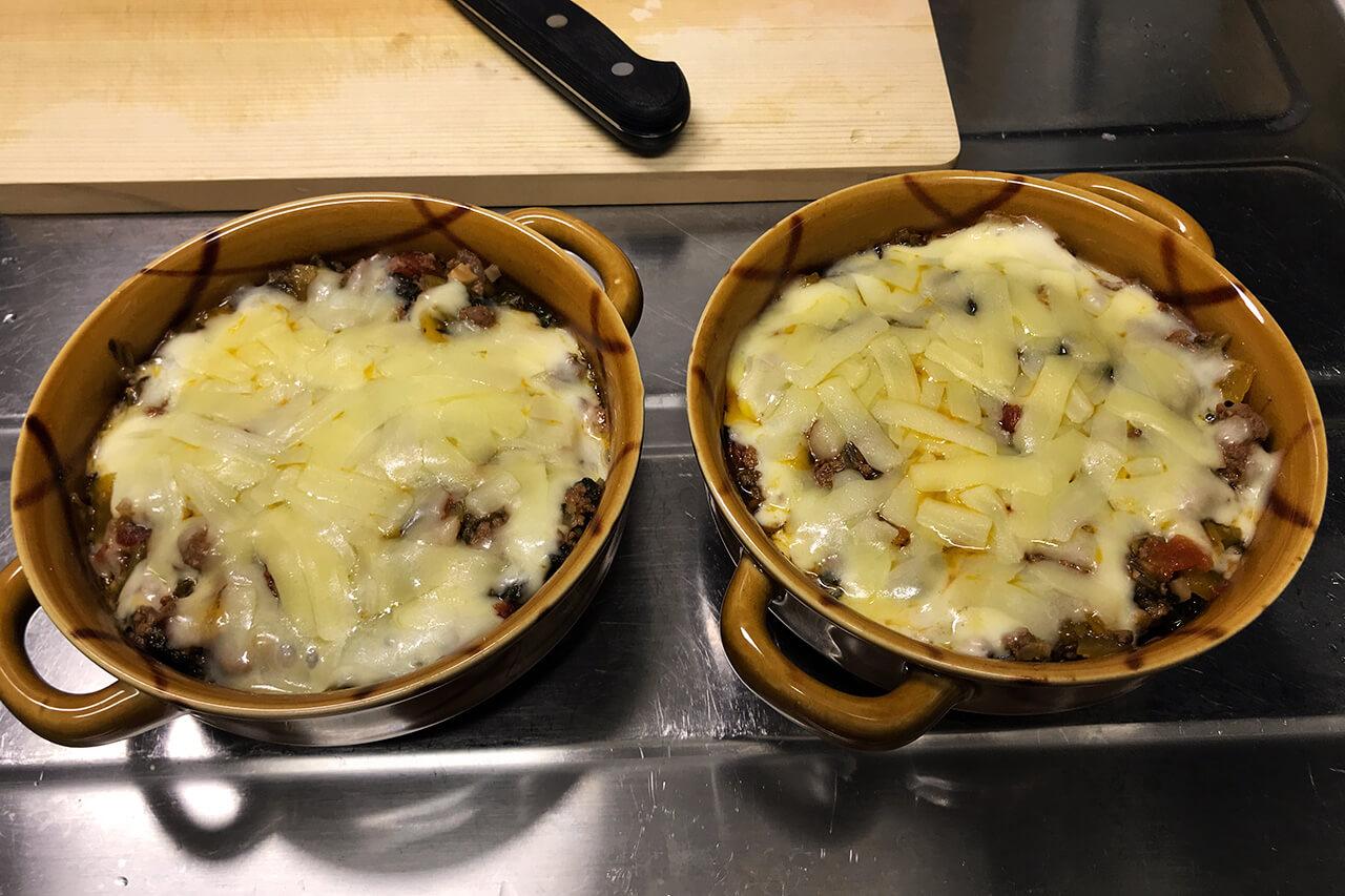 9.チーズが溶けたら出来上がり。