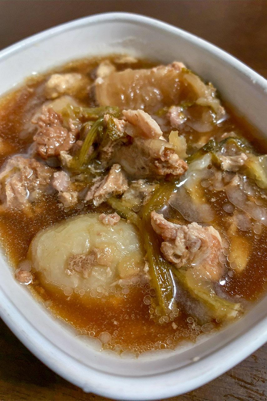 カブと豚バラ肉の煮物