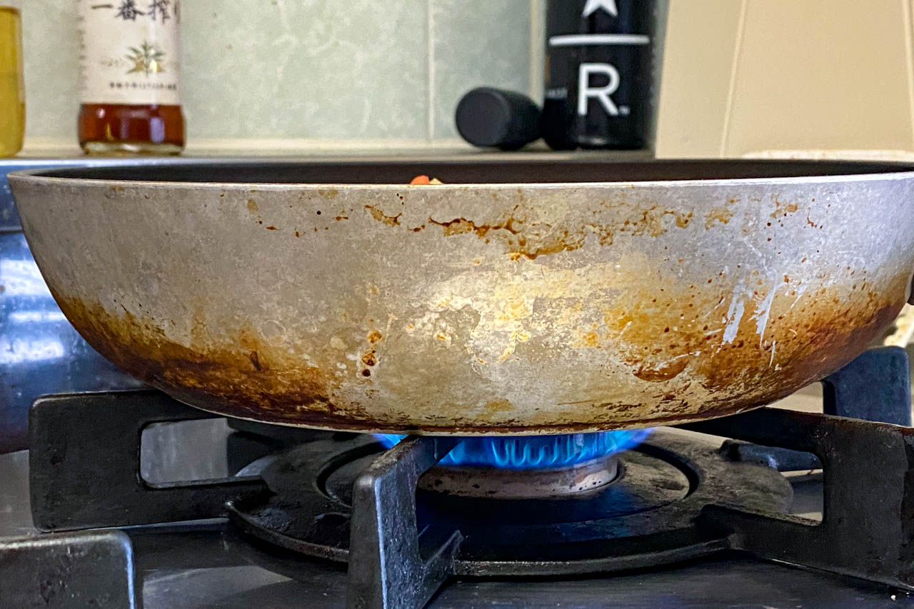 10.中火で5分加熱する