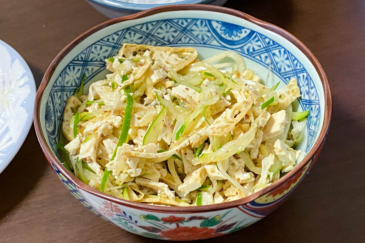 【沖縄食材】ハード島豆腐の中華和え